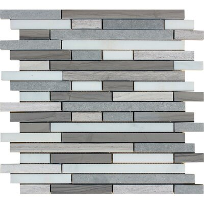Arctic Storm Random Sized Natural Stone Mosaic Tile in Gray