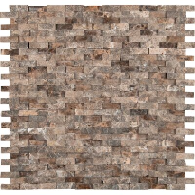 Emperador 12 x 12 Marble Splitface Tile in Brown