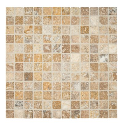 Tuscany Scabas 2 x 2 Travertine Mosaic Tile in Gold