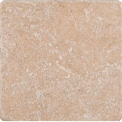 Tuscany Classic 4 x 4 Travertine Field Tile in Tumbled Beige