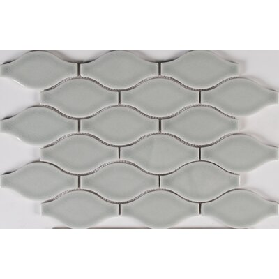 Ogee Ceramic Mosaic Tile in Morning Fog
