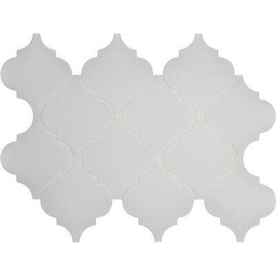 Arabesque Ceramic Mosaic Tile in Whisper White