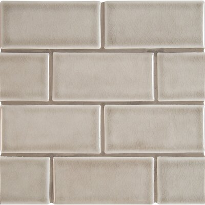 3 x 6 Ceramic Subway Tile in Dove Gray