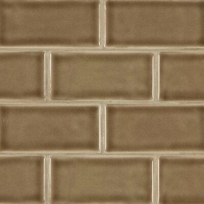 3 x 6 Ceramic Subway Tile in Artisan Taupe
