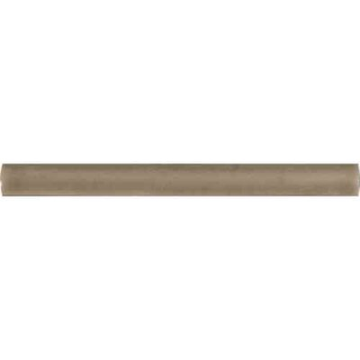 0.625 x 6 Ceramic Quarter Round Tile Trim in Dove Gray