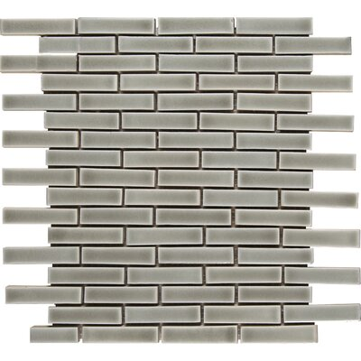 Brick 12 x 12 Ceramic Mosaic Wall Mosaic Tile in Dove Gray