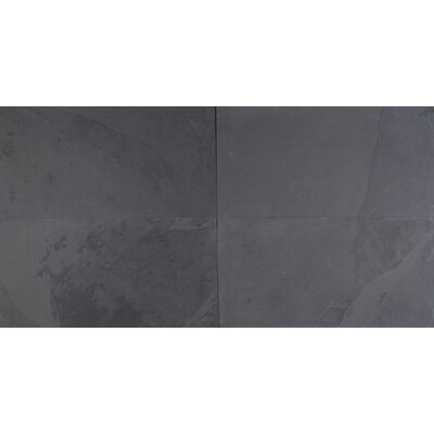 Montauk 12 X 24 Slate Field Tile in Black