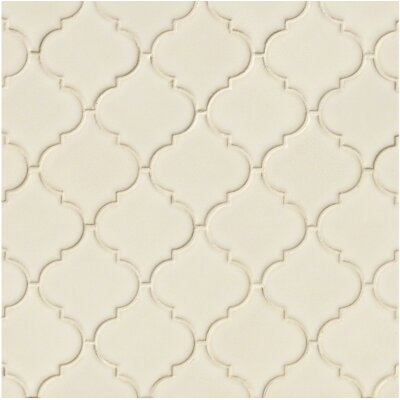Arabesque 10.83 x 15.5 Ceramic Mosaic Tile in Antique White