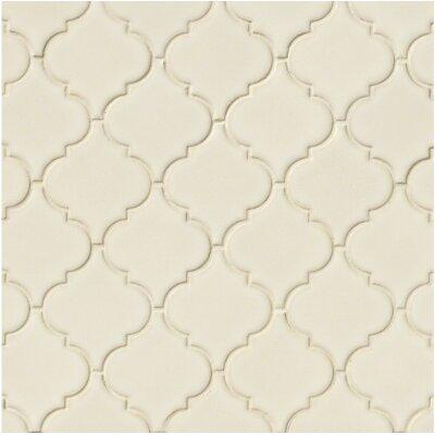 Arabesque 10.83 x 15.5 Ceramic Mosaic Tile in Antique White