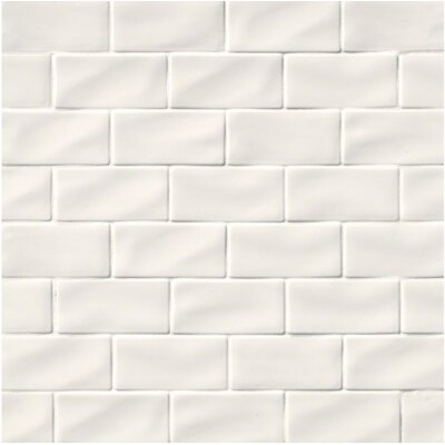 3 x 6 Ceramic Subway Tile in Whisper White
