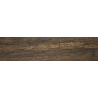 Botanica Teak 6 x 24 Porcelain Wood Tile in Glazed Textured