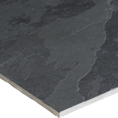 Montauk 18 x 36 Natural Stone Field Tile in Black
