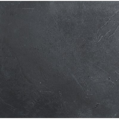 Montauk Gau 24 x 24 Slate Field Tile in Black (Set of 3)