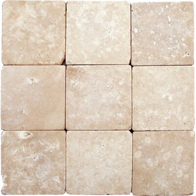 Durango 2 x 2 Travertine Mosaic Tile in Durango Beige