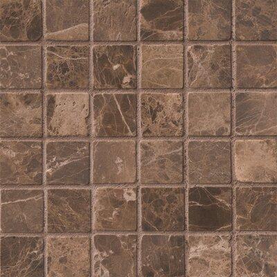 2 x 2 Marble Field Tile in Emperador Dark