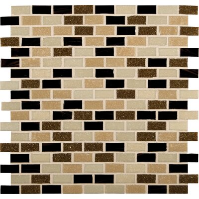 Desert Spring 12  x 12 Mounted Glass Mosaic Tile in Brown