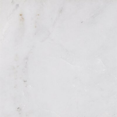 12 x 12 Marble Field Tile in Arabescato Carrara