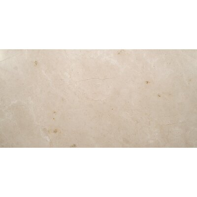 12 x 24 Marble Field Tile in Crema Marfil