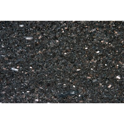 18 x 31 Polished Granite Tile in Black Galaxy