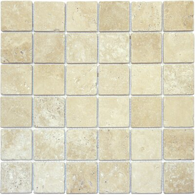 Tuscany Classic 2 x 2 Travertine Mosaic Tile in Beige