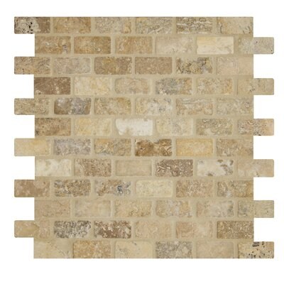 Tumbled Tuscany Mesh Mounted 12 x 12 Natural Stone Mosaic Tile