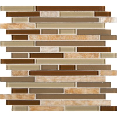 Random Sized Glass Mosaic Tile in Honey Caramel