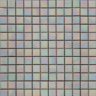 Iridescent 0.75'' x 0.75'' Glass Mosaic Tile in Mediterranean Pearl