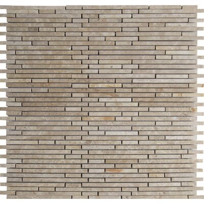Emperador Light Random Sized Marble Mosaic Tile in Beige