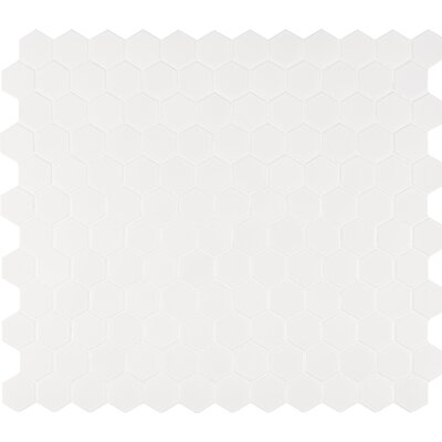 Hexagon 2 x 2 Porcelain Mosaic Tile in Glossy White