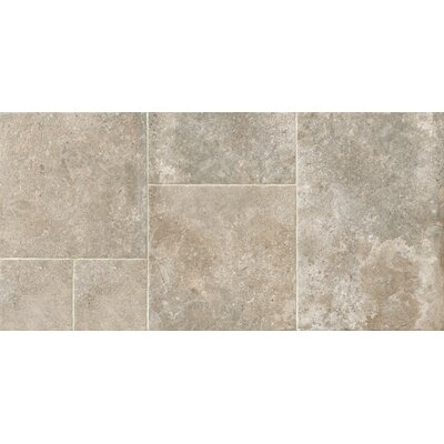 Versailles Manoir 17.3 x 26 Porcelain Field Tile in Gray (Set of 3)