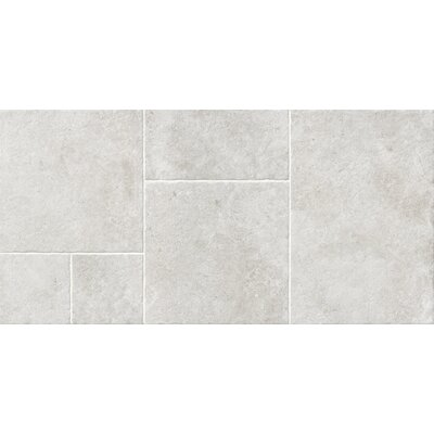 Versailles Manoir 17.3 x 26 Porcelain Field Tile in Beige (Set of 3)