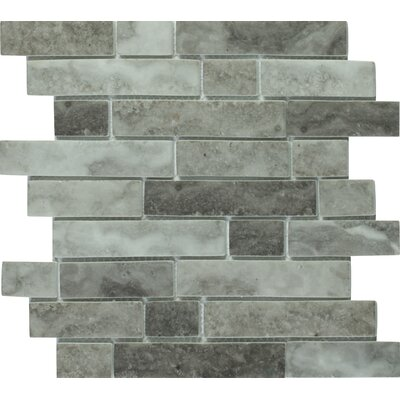 Urban Tapestry Interlocking Random Sized Glass Mosaic Tile in Gray