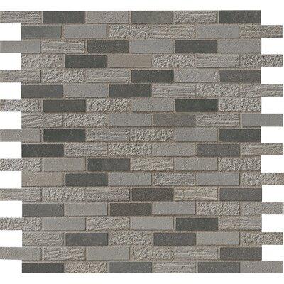 Shale 0.62 x 2 Basalt Mosaic Tile in Blue