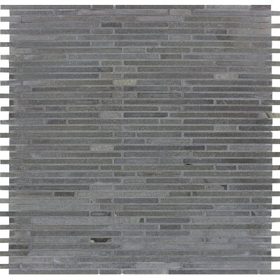 Bamboo Honed Basalt Mosaic Tile in Blue