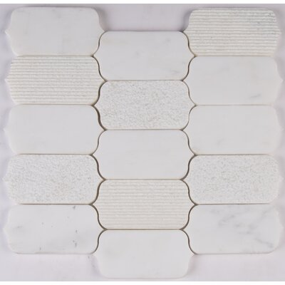 Calypso Blanco Marble Mosaic Tile in White
