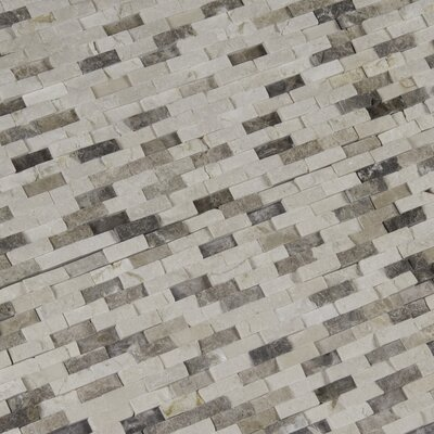 Emperador Blend Splitface Marble Mosaic Tile in Brown