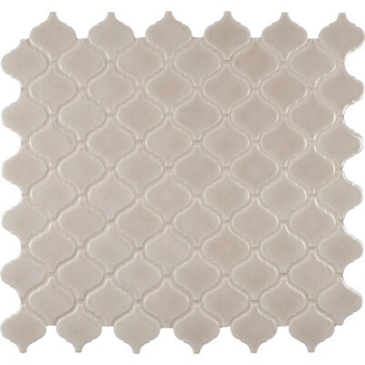 Fog Arabesque Ceramic Mosaic Tile in Gray