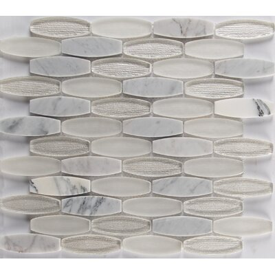 Ellia Blanco Glass/Stone Mosaic Tile