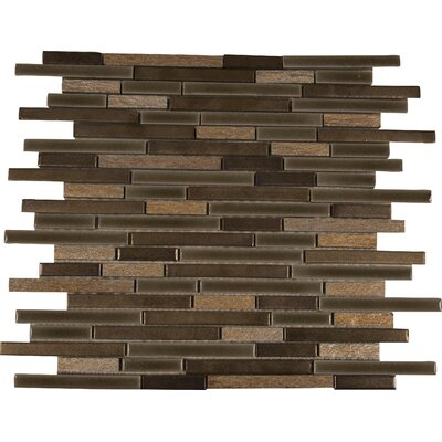 Triton Interlocking Pattern Porcelain/Stone Mosaic Tile in Brown