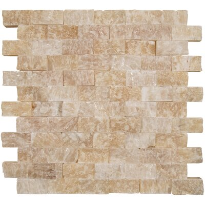 Soleil Split Face Onyx Mosaic Tile in Yellow