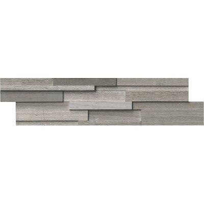 6 x 24 Marble Splitface Tile in Gray  (Set of 4)