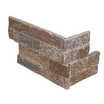 6 x 18 Quartzite Splitface Tile Rust/Copper (Set of 6)