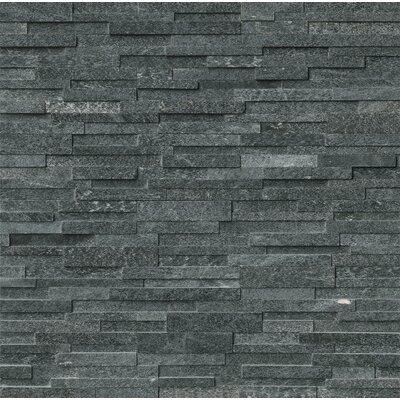 6 x 24 Quartzite Splitface Tile in Black