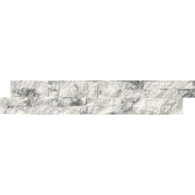 6 x 24 Quartzite Splitface Tile in White (Set of 3)