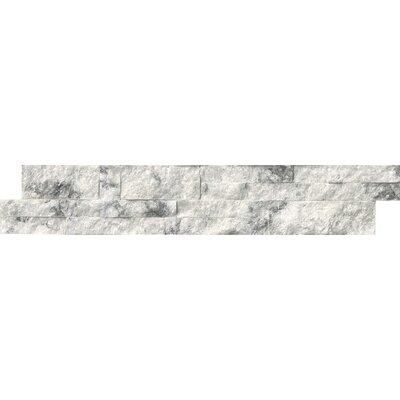 6 x 24 Quartzite Splitface Tile in White
