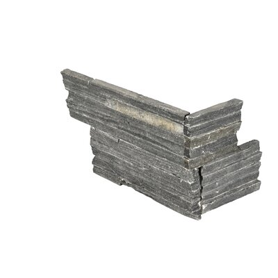 6 x 18 Slate Splitface Tile in Gray (Set of 6)