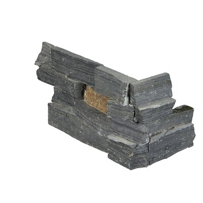 6 x 18 Slate Splitface Tile in Gray/Rust (Set of 3)