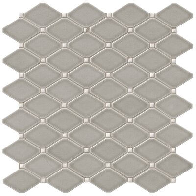 Highland Park Diamond 12.28 x 12.8 Ceramic Mosaic Tile in Gray