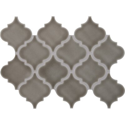 Highland Park Arabesque 10.83 x 15.5 Ceramic Mosaic Tile in Gray