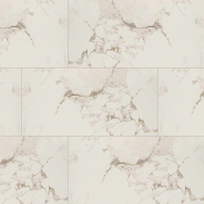 Pietra Statuario 16 x 32 Porcelain Field Tile in White